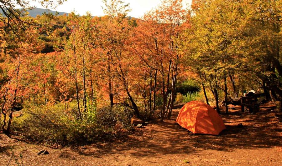 Camping en Altos de Lircay