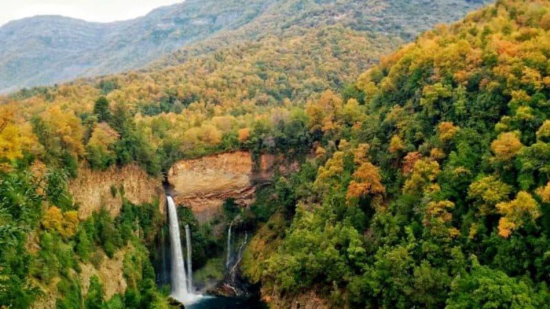 Imagen destacada del Parque Nacional Radal Siete Tazas