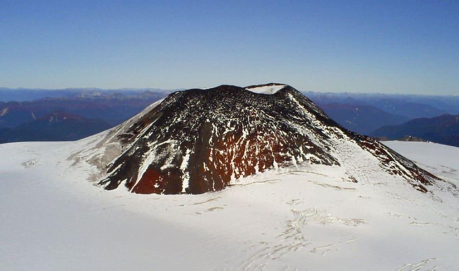 Cumbre del volcán Mocho Choshuenco