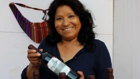 Betty Zavala, productora de vino Pintatani