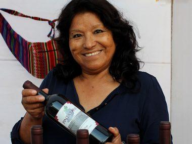 Betty Zavala, productora de vino Pintatani