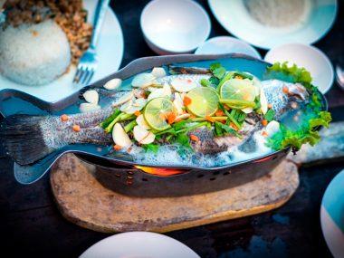 Gastronomía en Caleta Camarones