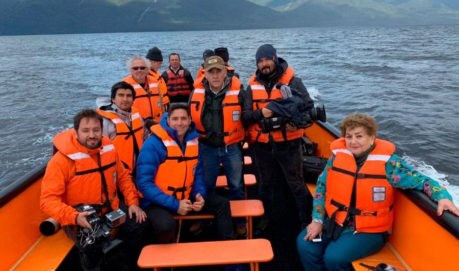 Pancho Saavedra viajando en el Crucero Skorpios II