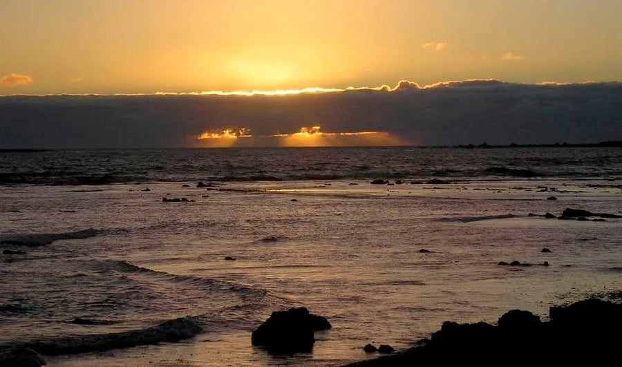 Puesta de sol en Isla Mocha