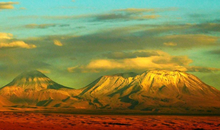 Puesta de sol en San Pedro de Atacama