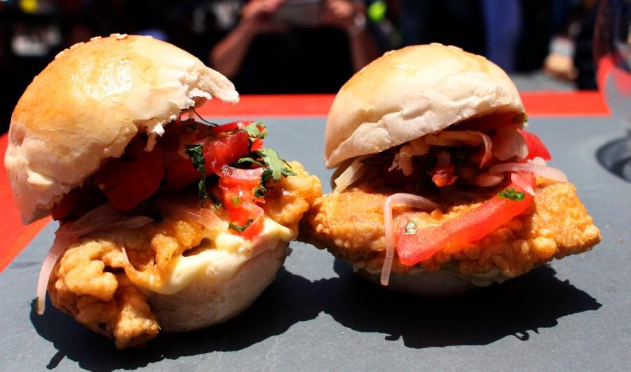 Sandwich de pescado en la región metropolitana