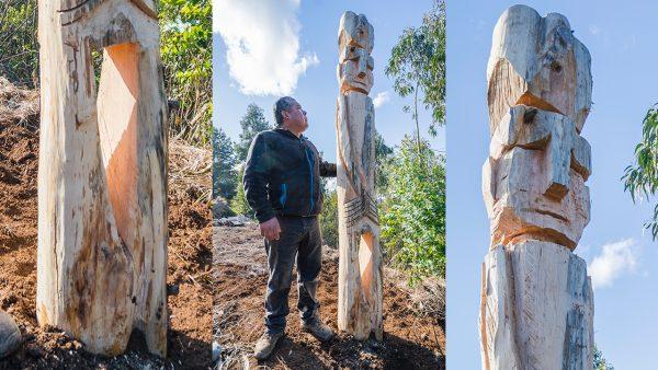 Hernán Marinao, artesano en madera