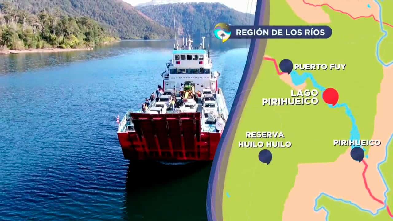 Mapa del Lago Pirihueico