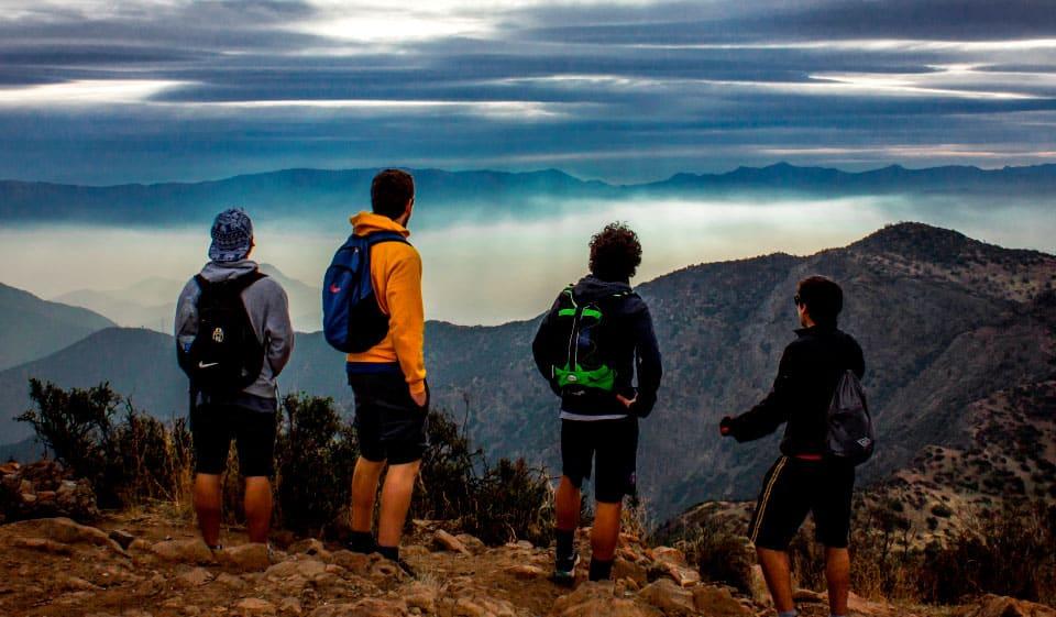 Rappel en el Cerro Manquehue