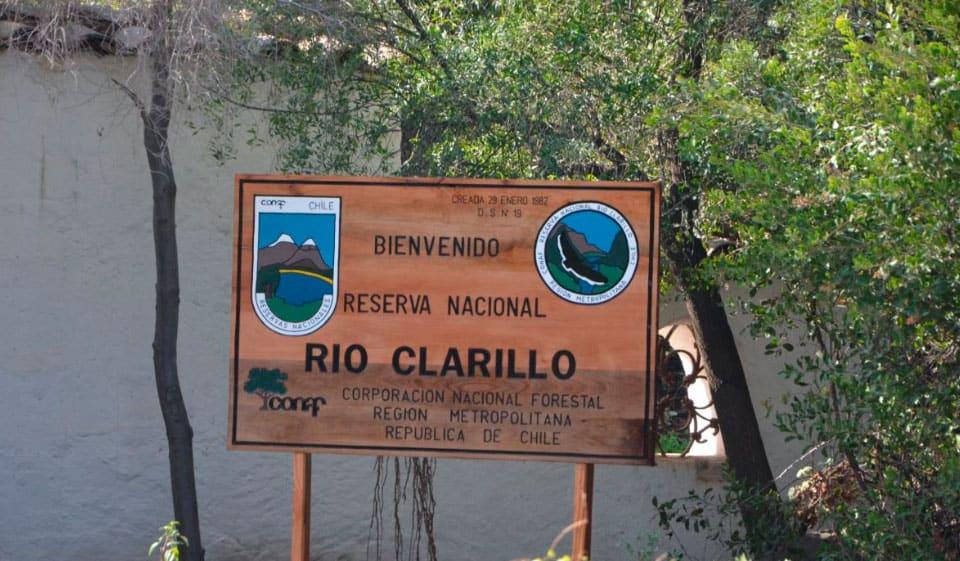 Ubicación del Parque Nacional Río Clarillo