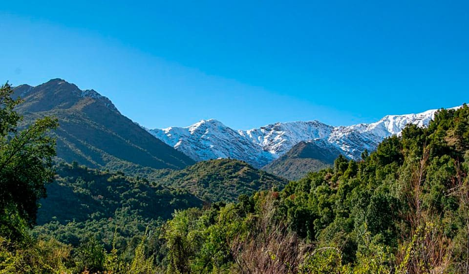 Vista Panorámica del Parque Nacional Río Clarillo